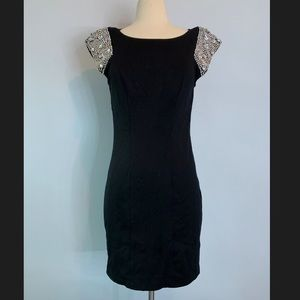 A.B.S Collections black rhinestone cocktail dress